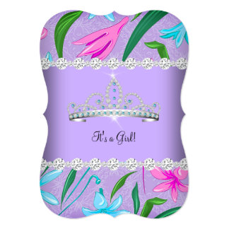 baby shower purple teal pink invitations announcements zazzle