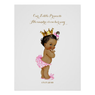 Baby Shower Girl, white pink,elegant,32x41,6 300pp Poster