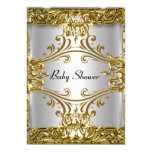 """Baby Shower Gold Silver Neutral 5"""" X 7"""" Invitation Card"""