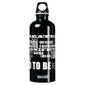 Baby Shower Greatest Best Future Fathers Dad to Be Aluminum Water Bottle