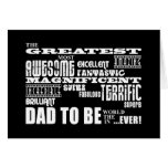 Baby Shower Greatest Best Future Fathers Dad to Be Cards