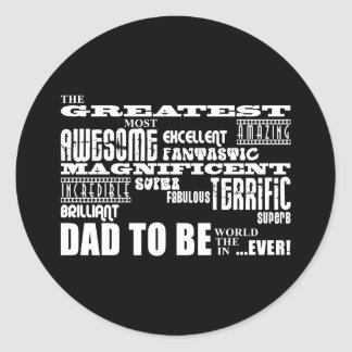 Baby Shower Greatest Best Future Fathers Dad to Be Classic Round Sticker