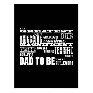 Baby Shower Greatest Best Future Fathers Dad to Be Postcard