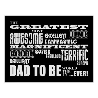 Baby Shower Greatest Best Future Fathers Dad to Be Print