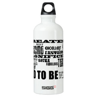 Baby Shower Greatest Best Future Fathers Dad to Be Water Bottle