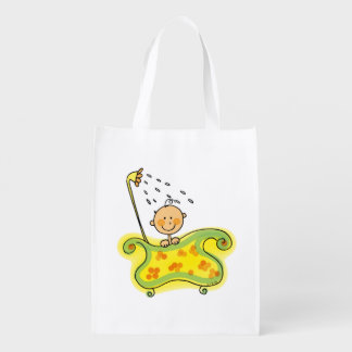 Baby shower grocery bag