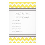 Baby Shower Guessing Game Yellow Chevron Stationery Paper