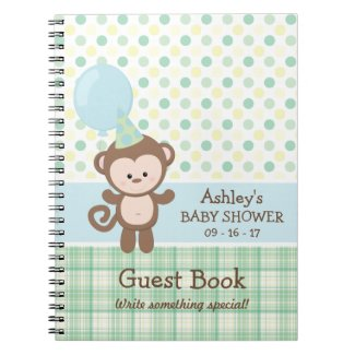 Baby Shower Guest Book - Monkey