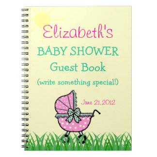 Baby Shower Guest Book Note Book