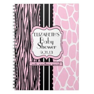 Baby Shower Guest Book-Pink Spiral Notebook