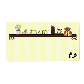 Baby Shower Guest Name Tag- Label