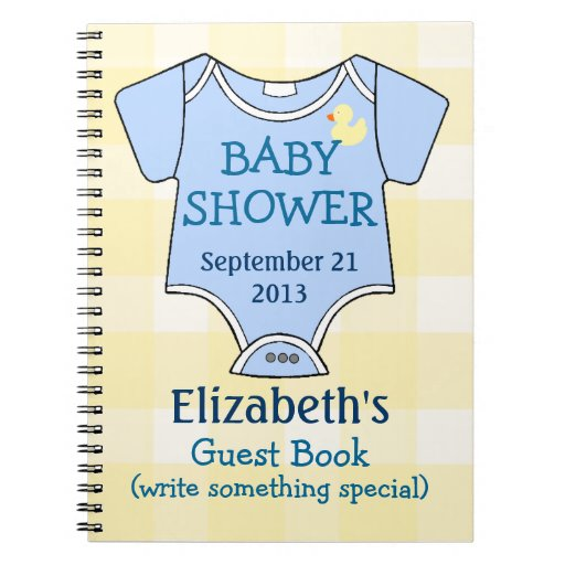 baby shower guestbook note book zazzle