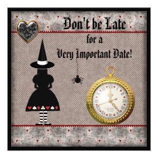 Baby Shower Halloween Alice in Wonderland Invites