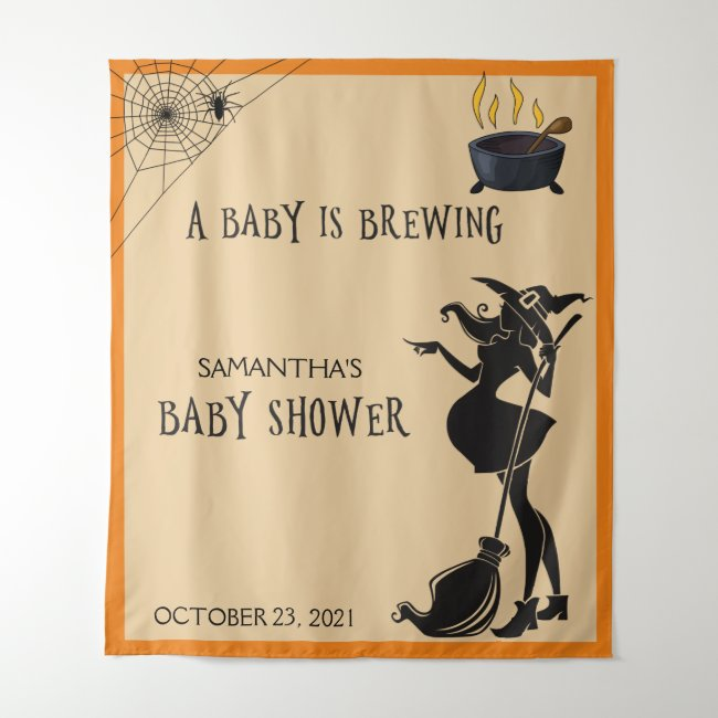 Baby Shower Halloween Witch Photo Backdrop