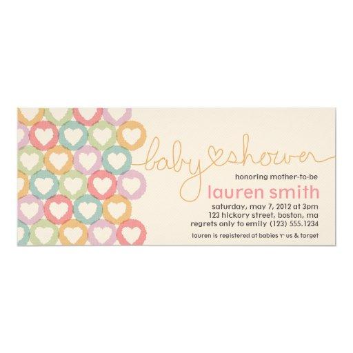 Baby Shower Heart Invitation