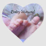 Baby Shower heart shaped stickers envelope seals