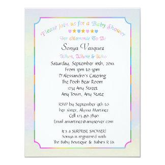 Baby Shower Hearts & Stars Invitation