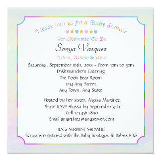 Baby Shower Hearts & Stars Invitation 3
