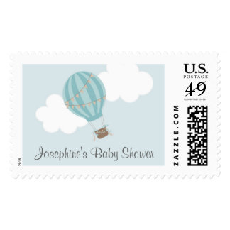 Baby Shower Hot Air Balloon Postage Stamp