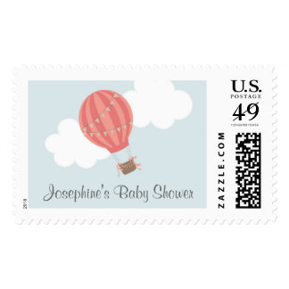 Baby Shower Hot Air Balloon Postage Stamp