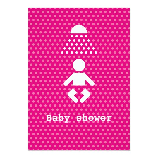 Baby shower icon with polka dots card