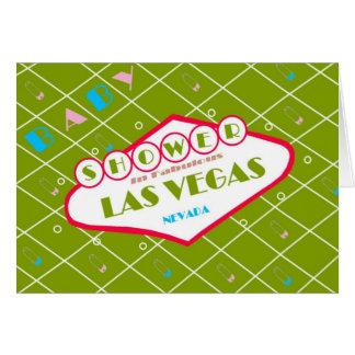 BABY SHOWER In Fabulous Las Vegas Card