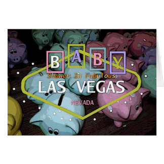 Baby Shower In Fabulous Las Vegas Card Piggy Banks