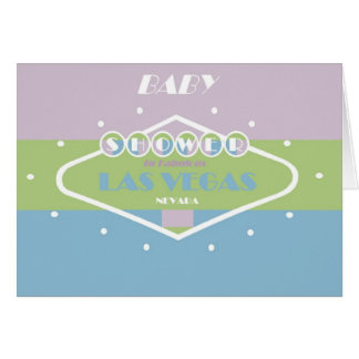 BABY Shower In Fabulous Las Vegas Spring Colors Card