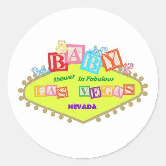 BABY Shower In Fabulous Las Vegas Sticker