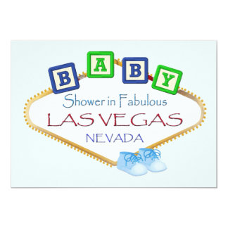 Baby Shower in Las Vegas BOY Invitation