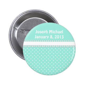 Baby Shower in Teal Pinback Button