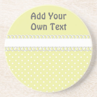 Baby Shower in Yellow Drink Coasters