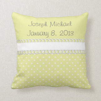 Baby Shower in Yellow Throw Pillow