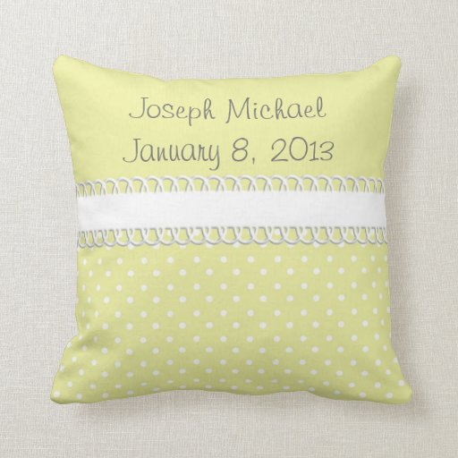 baby shower in yellow throw pillow zazzle