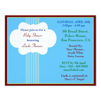 Baby shower Invitation1 Card