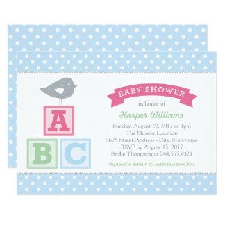 Baby Shower Invitation | ABC Alphabet Blocks Theme