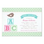 Baby Shower Invitation   ABC Alphabet Blocks Theme