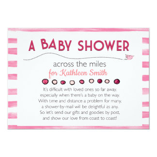 Baby Shower Invitation Across the Miles