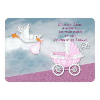 BABY SHOWER INVITATION - ANGEL FROM HEAVEN