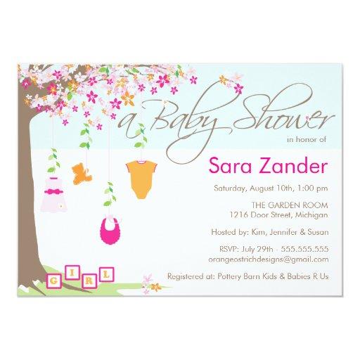 "Baby Shower Invitation - Baby Clothes 5"" X 7"" Invitation Card"