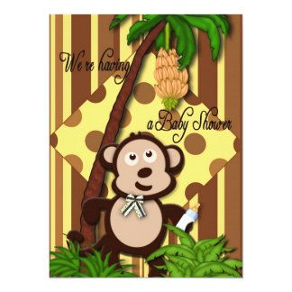 Baby Shower Invitation - Baby Monkey Theme