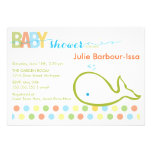 Baby Shower Invitation - Baby Whale