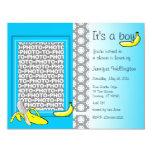 "Baby Shower Invitation Banana Boy Add Photo 4.25"" X 5.5"" Invitation Card"