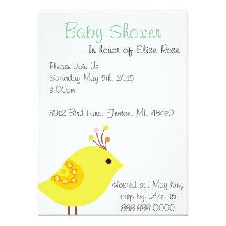 Baby Shower Invitation - Bird theme
