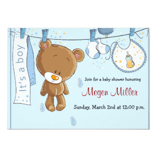 Baby Shower Invitation - Boy