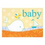 Baby Shower Invitation - Boy Baby Whale