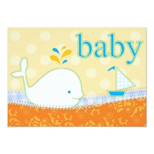 baby shower invitation boy baby whale zazzle