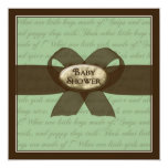 "Baby Shower Invitation - Boy or Girl 5.25"" Square Invitation Card"
