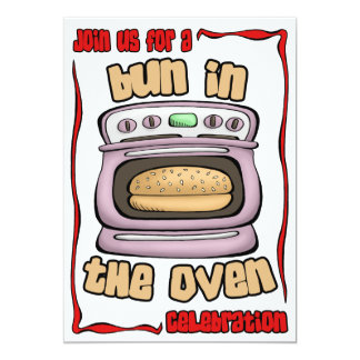 Baby Shower Invitation: Bun In The Oven 105