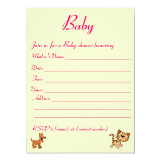 Baby shower invitation. card